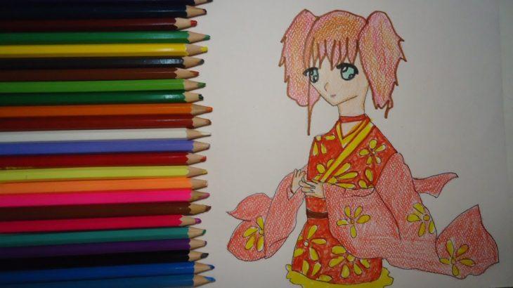 JAPANESE DRESS GIRL ANIME ILLUSTRATION | #365