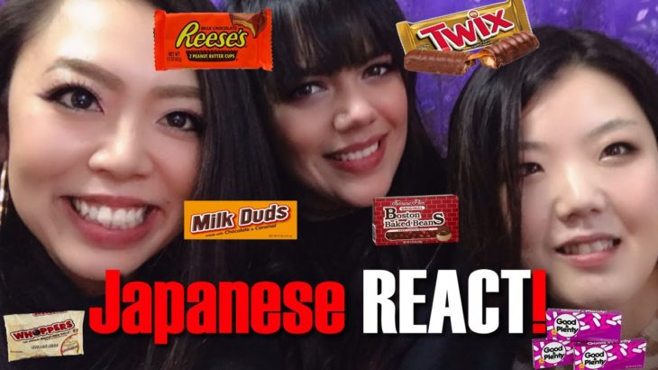 Japanese People Try American Candy Part Two! | Japanese React!