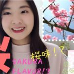 SAKURA FLAVOR FOOD & DRINKS !? Japanese cherry blossoms🌸