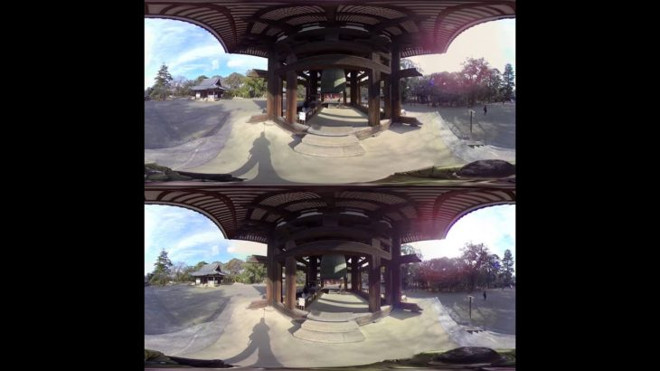 [3D-360 sightseeing] Bell Tower of Todaiji temple in Nara Japan