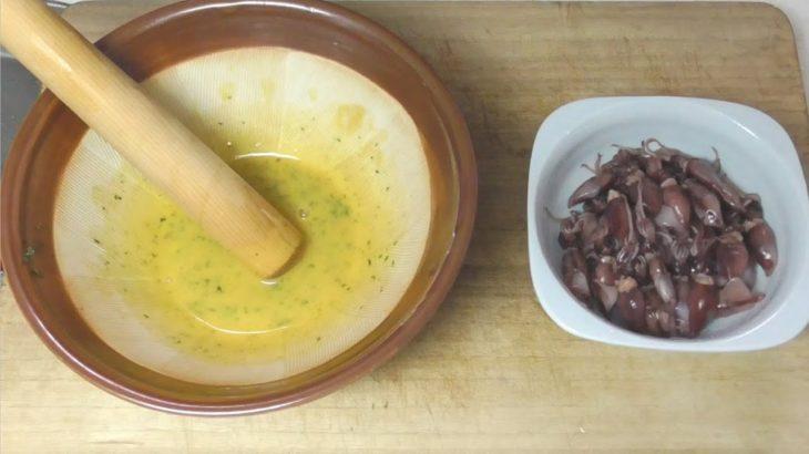 ホタルイカ(桜煮)/ラーメン -Firefly squid (Toyama squid  ) / Ramen-Japanese food【江戸長火鉢 83杯目】