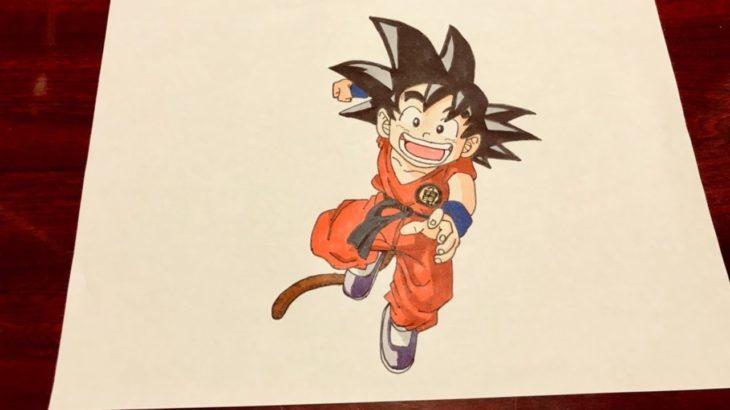【How to Draw】Japanese anime MANGA Dragon Ball Kid Goku Coloring Pages Art Drawing
