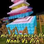 FUTURISTIC JAPANESE ANIME HOUSE : NOOB vs PRO in Minecraft Battle