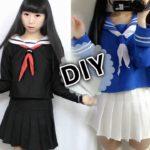 DIY Japanese Anime School Uniform: DIY Easy Long Sleeve Seifuku + DIY Seifuku Scarf