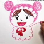 Drawing Akachanman from Anpanman | Japanese anime | Nursery rhymes | 赤ちゃんマンのクレヨンで似顔絵お絵かき