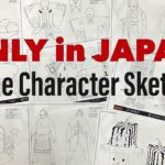 Japanese Anime Character Sketches for ONLY in JAPAN