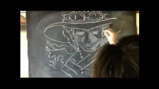 Chalk art・・・Japanese anime