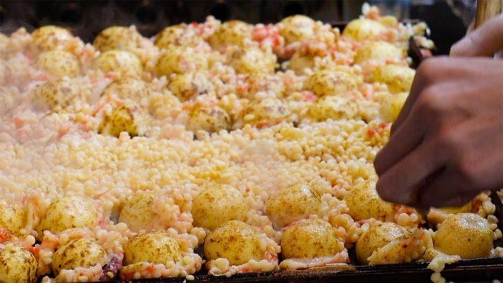 Crispy TAKOYAKI | Octopus balls | Japanese Street Food | Osaka Japan