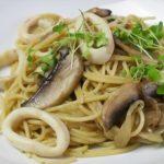 "How to make Squid spaghetti with ""ishiri"" sauce —Japanese food"