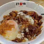 Itoya Japanese food in Tunjungan Plaza Half Boiled Egg.