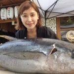 Japanese Food – The Hottest Sales Girl's Giant Tuna Fish Cutting Show