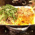 차돌박이 야끼우동(Japanese fried noodle) / Korean Street Food / Bupyeong Night Market, Busan Korea