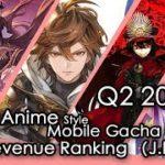 Q2 2019 Anime Mobile Gacha game Revenue Review (Japan)