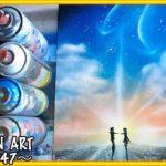 Spray Paint Art Japanese Anime