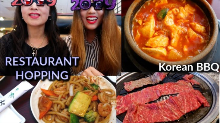 What We Eat when not Filming (Korean BBQ + Japanese Hibachi Buffet) | Kim&Liz Too