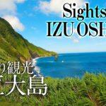 4K: Izu Oshima Japanese Island Sightseeing(伊豆大島観光)