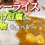 [ASMR 食べるだけ 咀嚼音]Japanese food カレーライス 厚揚げ豆腐の煮物を食べる 飯テロ No talking Eating sounds