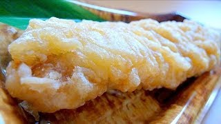 "Eating Japanese food Tempura ""Anago tempura"" (ASMR) not sashimi"