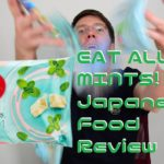 Funky Japanese Mint Sweets! Conbini Food Review!