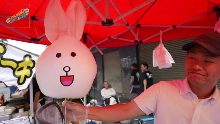 [Japanese Food] Kẹo bông nghệ thuật siêu đẹp đầy màu sắc, hình Gà, Thỏ, Gấu ….