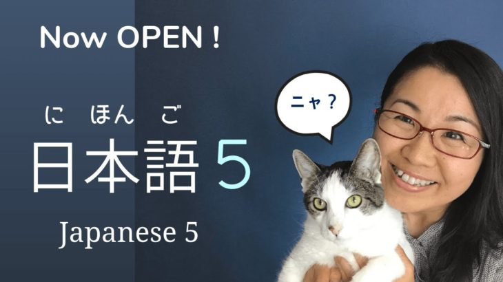 Learn Japanese online in 日本語5 – Early Registration NOW!