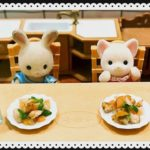【Mini Cooking】 Stir-fried chicken with vegetables. Japanese food. Sylvanian Families