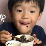 [RD Mukbang]Kid ASMR Eating Japanese Super Food BLACK NATTO& MULTI GRAIN RICE.