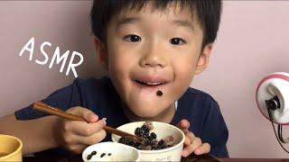 [RD Mukbang]Kid ASMR Eating Japanese Super Food BLACK NATTO& MULTI GRAIN RICE.