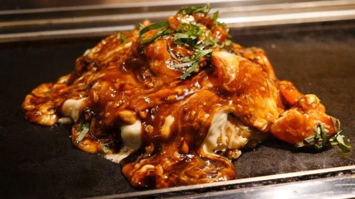 토마토 오코노미야끼 / 일본 길거리 음식/ Tomato Okonomiyaki / Japanese Street Food
