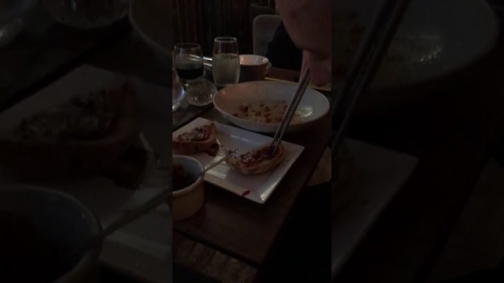 Using my chopsticks to eat all my food at a none Japanese restaurant