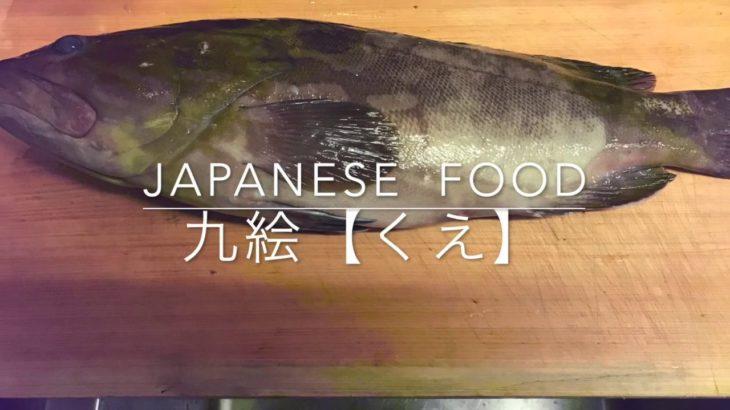 高級魚の九絵【クエ】おろし方、かぶと割りjapanese  food  washoku
