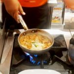 japanese food. Kurobuta Kimchi with egg, famous menu in Thailand you have to try!!