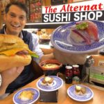Japanese Conveyor Belt Sushi Menu ー Cheese Burgers, Steak, Ramen? ★ ONLY in JAPAN
