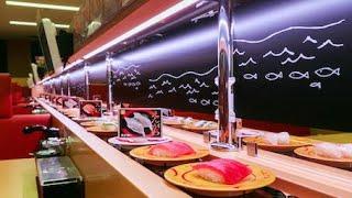 Japanese Food Conveyor Belt SUSHI [SUSHIRO] HowTo Ueno Tokyo Japan