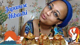 Japanese Hibachi Food Mukbang | FULL of Bloopers 🤦🏾♀️