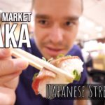 Japanese Street Food At Osaka Kuromon Market – CRAZY Kobe Beef, DEADLY Puffer Fish Sushi (FUGU) ++