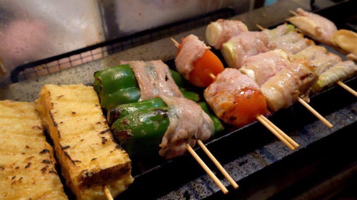 Japanese Street Food 🍢Barbecue Street Food Shinjuku (2019)🍗鳥を焼く やきとり 思出橫丁美食街 BBQ