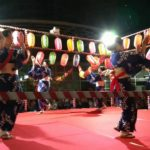 Japanese traditional music with cultural instrument playing in Festival near Tokyo, Japan