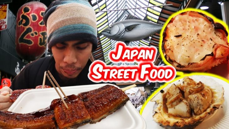 THE BEST JAPAN STREET FOOD You Can Try In KUROMON Market, OSAKA