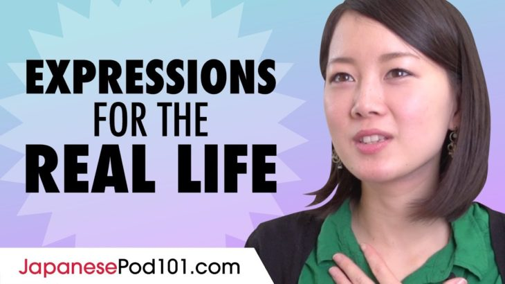 Vocabulary and Common Expressions for Real Life Japanese Conversation