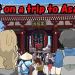 【cartoon japan】I went to Asakusa, Tokyo for a trip with Anita. I've been touching Japanese culture