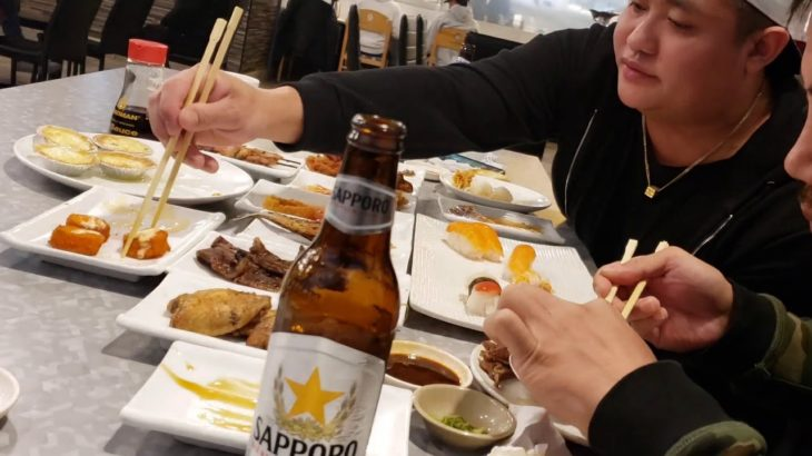 1st Mukbang // Addei's 1st Birthday // All You Can Eat Japanese Restaurant