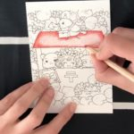 Coloring a Japanese anime postcard (Time-Lapse)
