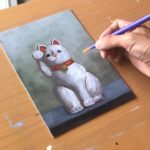 "How to Paint ""Maneki Neko"" 招き猫 – oil painting tutorial Japanese culture"