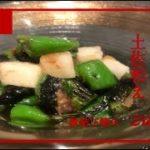 【梨としし唐の土佐和え】Japanese food  recipe Sushi and pear bonito flakes