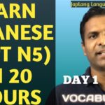 Lesson 1: Vocabulary Minna No Nihongo Eng subtitle | Learn Japanese| #JLPT#Nihongo#Japanese#JLPT N5
