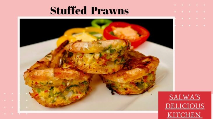 Stuffed Prawn Recipe| Fusion of Indian & Japanese Cuisine | Cream Garlic Stuffed Prawn Fry |