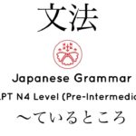 Learn Japanese Grammar in Context JLPT N4 Level  〜ているところ [Shadowing Practice]