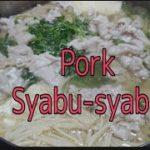 Pork Syabu-Syabu, Japanese Food. Easy To Prepare