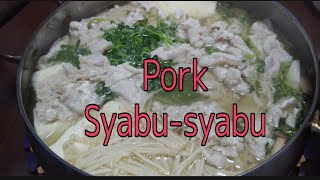 Pork Syabu-Syabu, Japanese Food. Easy To Prepare